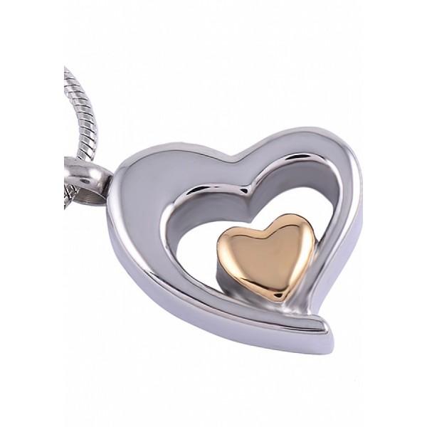 Assieraad ketting hartvormig